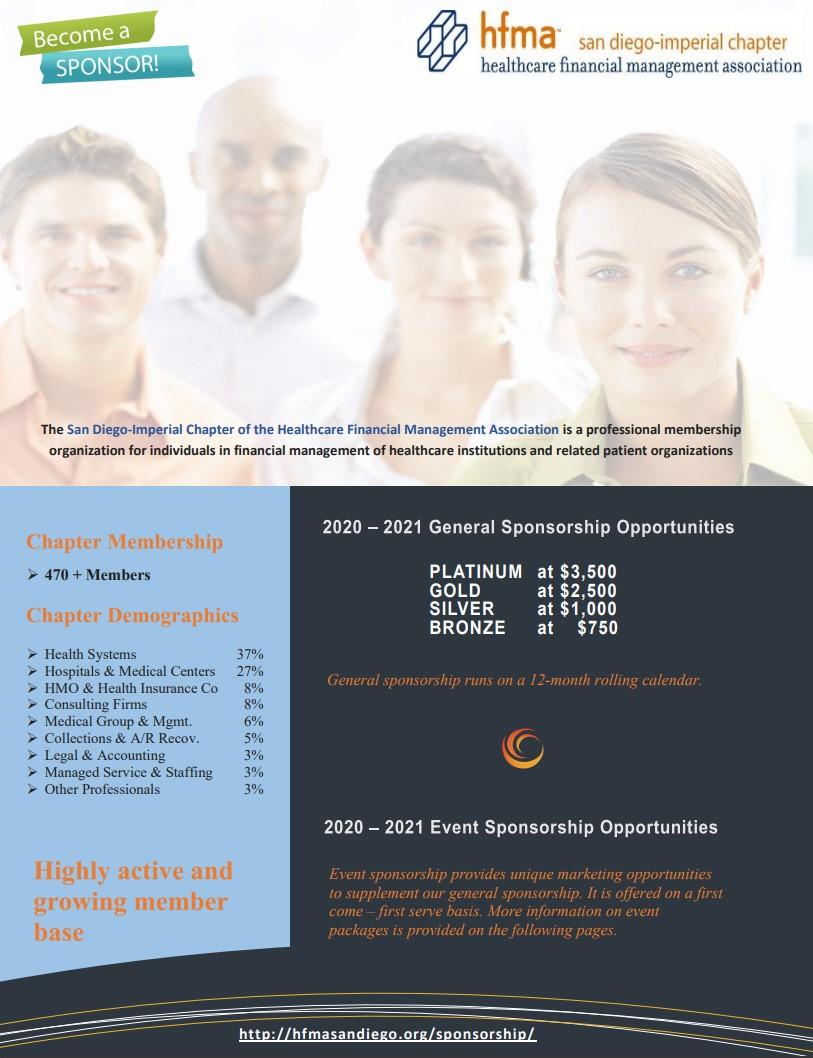 HFMA SD 2021-2022 General Sponsorship Package